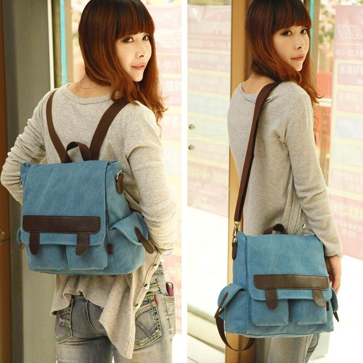 Simple Vintage Multifunction Canvas Backpack&Shoulder Bag&Handbag | Fashion Backpacks | Fashion Bags-ByGoods.Com