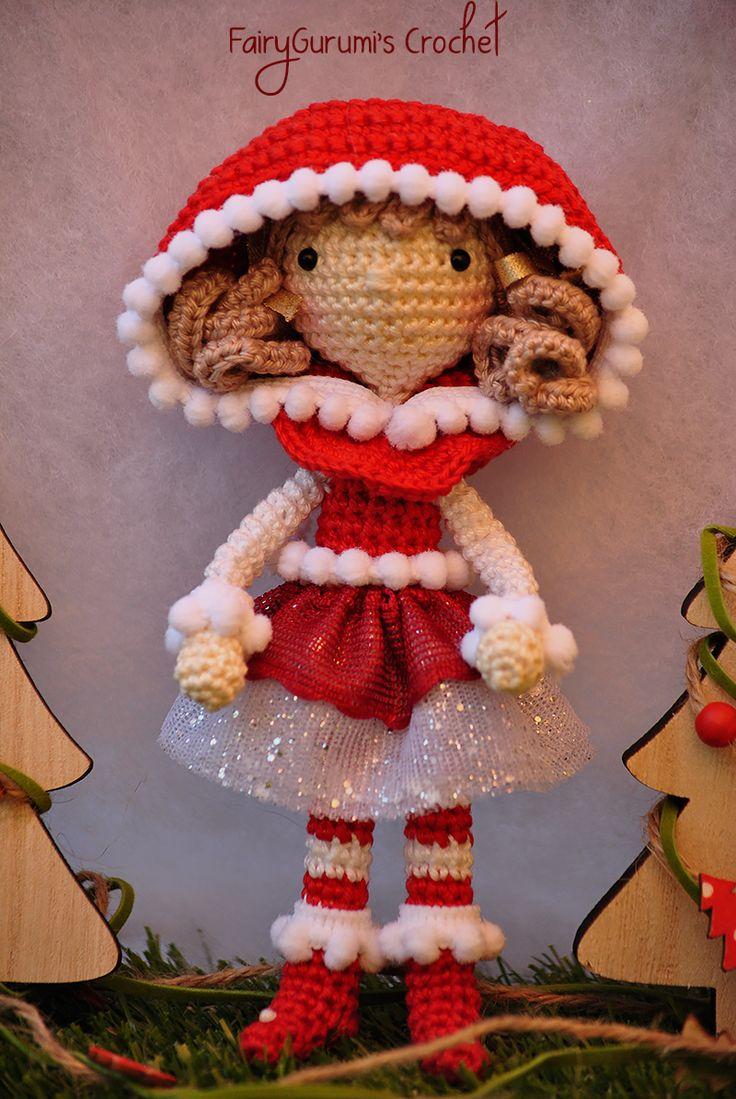 Presepe Amigurumi Etsy : Amigurumi - Zelia Christmas doll - tutorial by FairyGurumi ...