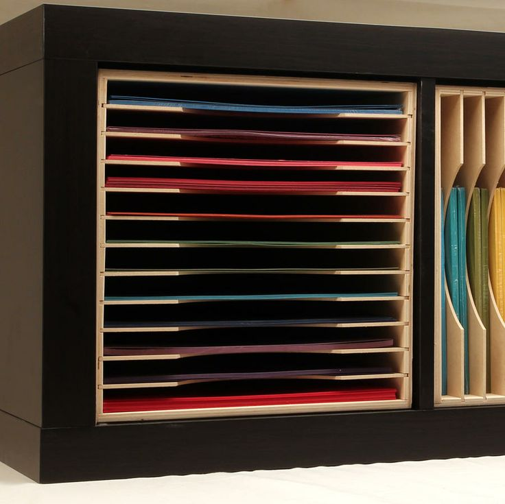 paper holder for ikea expedit scrapbook paper storage
