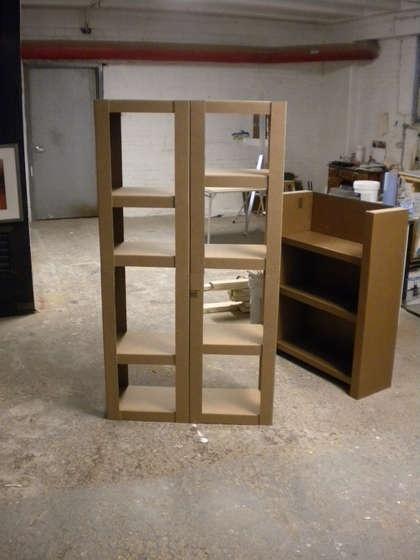 How to make cardboard shelves tutorial wow!!