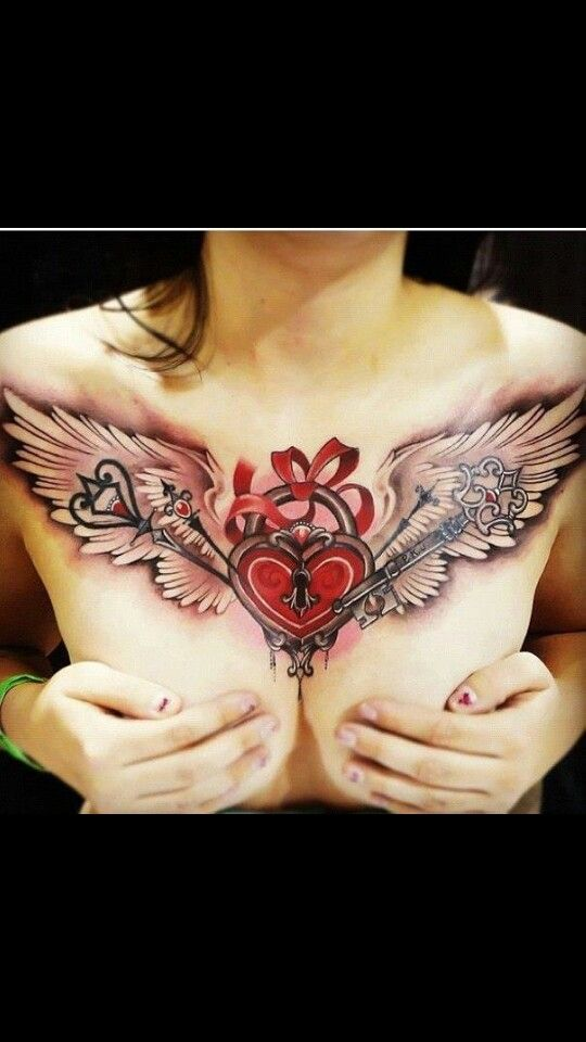 24 Best Girls Chest Tattoos Images On Pinterest