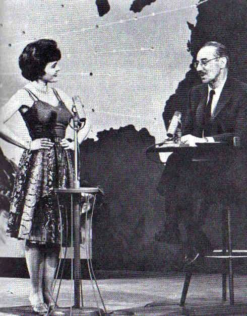 Darla Hood & Groucho Marx. I don't know if this is You Bet Your Life or his subsequent show 'Tell it to Groucho'