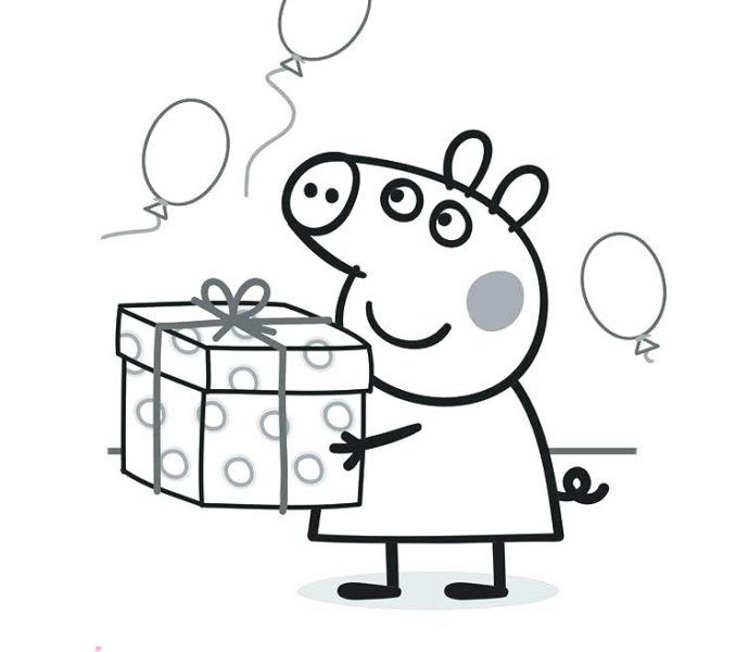 Printable Peppa Pig Coloring Pages Free Coloring Sheets Peppa Pig Colouring Peppa Pig Coloring Pages Birthday Coloring Pages