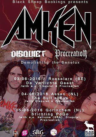 AMKEN - Νέα περιοδεία και εξώφυλλο του αναμενόμενου album  #amken #european_tour #album #new_album #album_cover #thrash_metal