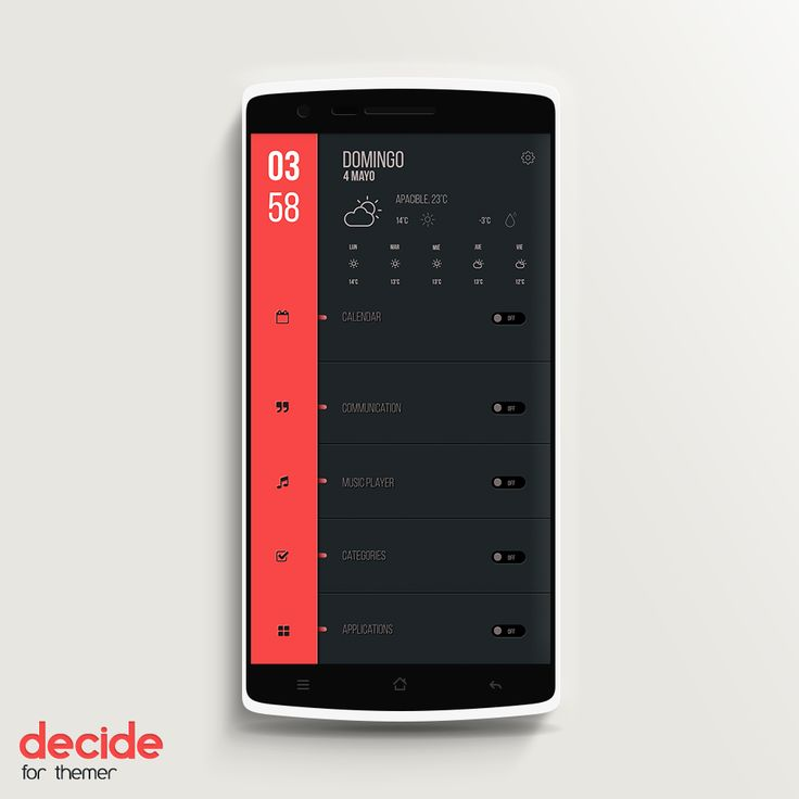 Decide Android Homescreen by THENext - MyColorscreen