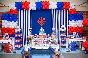 Mesa Festa Infantil Ursinho Marinheiro do Miguel