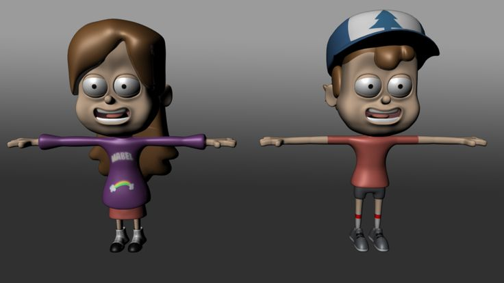 Mabel and Dipper pines Smooth by J3DQD.deviantart.com on @DeviantArt