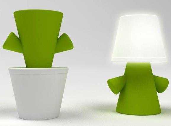 Greenman solar powered LED lamp  by Lexon - design Valentina Del Ciotto & Simone Spalvieri