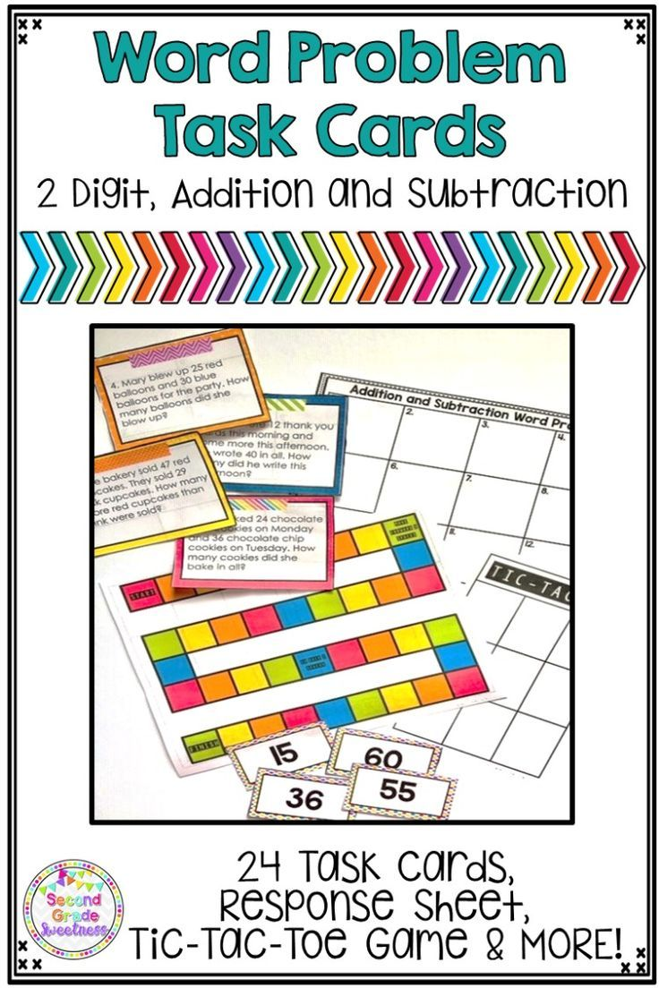 Word Problems Addition And Subtraction Addition And Subtraction Word Problems Task Cards Word Problems Common core sheets adding and
