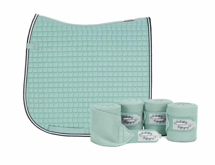 Eskadron Limited Edition Dressage Saddlecloth & Fleece Bandages Set - Ice Blue #Eskadron