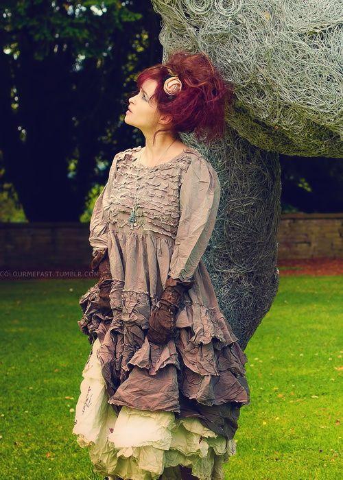 Helena Bonham Carters fashion is so wacky! Love it