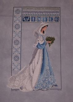 lavender and lace cross stitch - Google Search