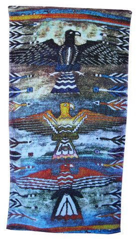 Golden Eagle Beach Towel in Ivory design by Fresco Towels