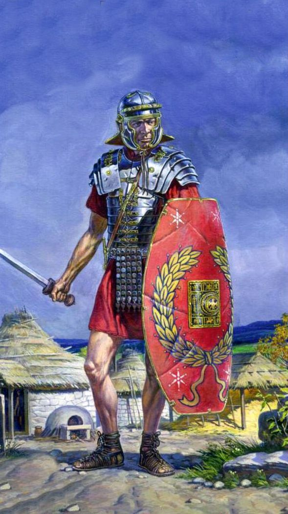 ROMAN: Roman Legionaire, (artist unknown). Help eliminate poor pinning! If you know the artist and can supply a link, please update this pin. Thank you!