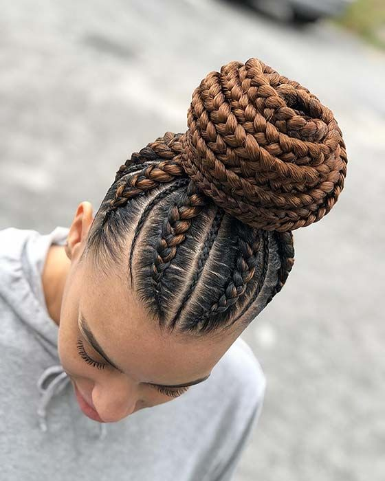 13 Quick And Easy Braided Bun Hairstyles The Fashion Bug Braided Hairstyles Braided Bun Hairstyles Big Cornrows Hairstyles
