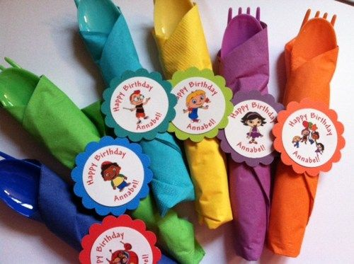 12 Little Einsteins Birthday Napkin rings decoration party favor