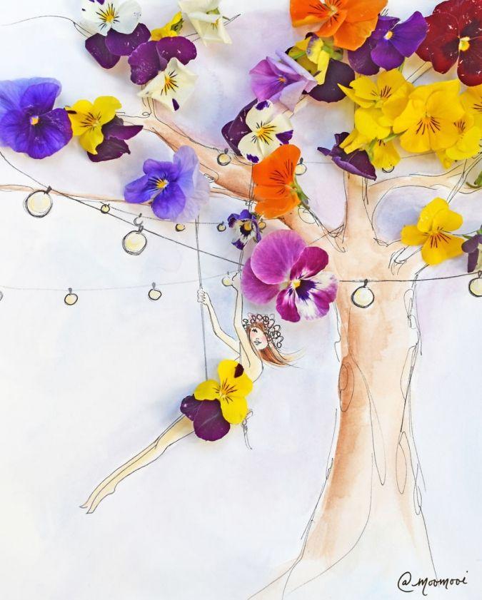 Цветы в модных иллюстрациях