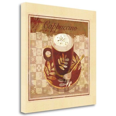 Tangletown Fine Art 'Cappuccino' by Linda Maron Graphic Art on Wrapped Canvas