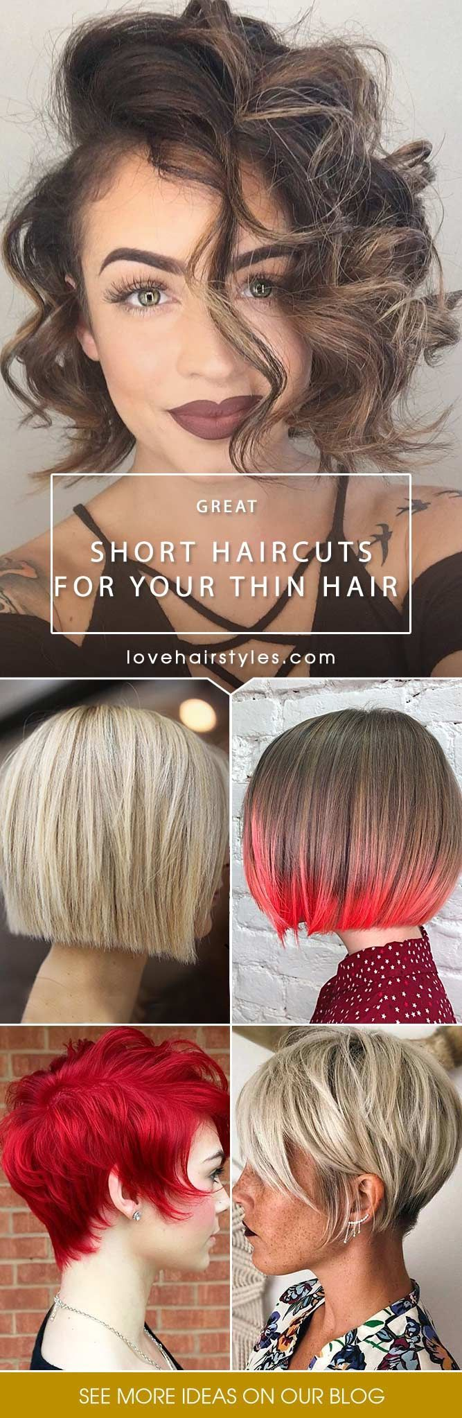 Thin hair is the greatest fear of many women. But not all of them know that this is not a real problem. We have gathered some ideas that may be useful for those who think that their hair is a nightmare. #hairtype #thinhair #shorthaircuts