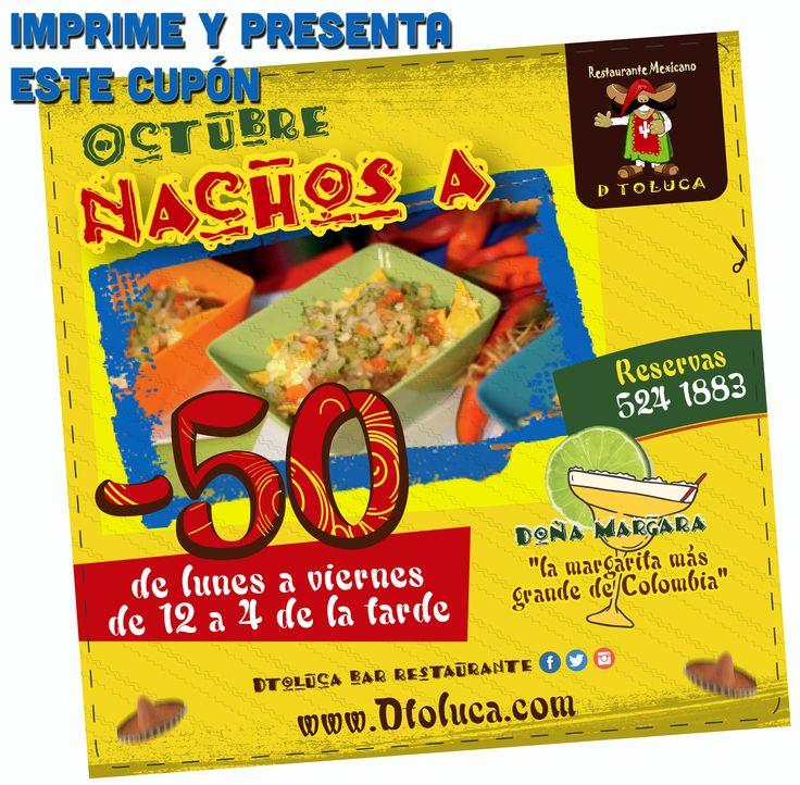 Imprime y presenta este cupón para el -50% en #Nachos