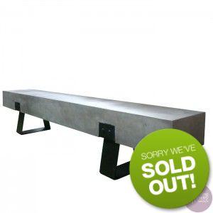 Sitting Pretty Furniture - Hunter Concrete Bench- Grey/Black - 240cm - DUE EARLY SEP