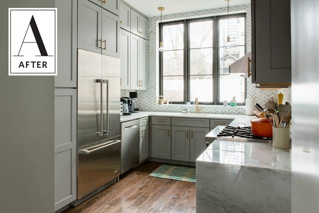 Before and After: A Dark, Dated Kitchen's Beautiful Update   Apartment Therapy