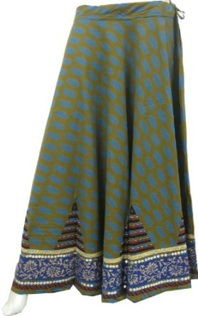 Designer Long Indian Skirts for Women Cotton With Sequins Beads