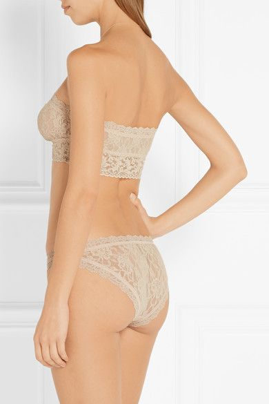 Hanky Panky - Bandeau Stretch-lace Soft-cup Bra - Neutral - x small