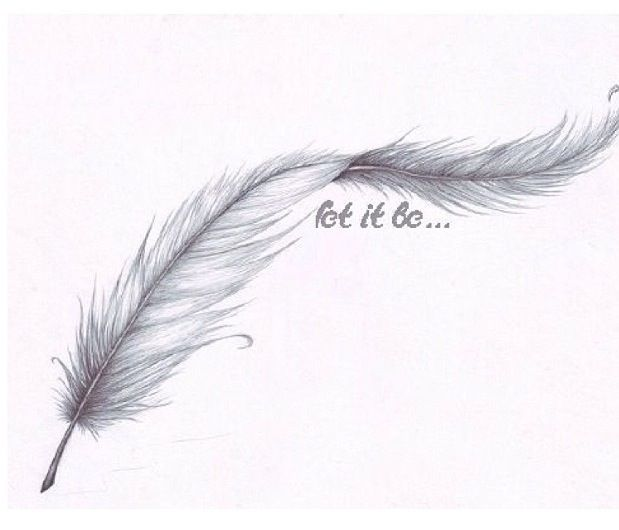 Let It Be Feather Tattoo