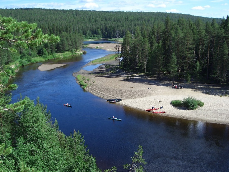 Canoeing The Oulanka River, Kuusamo, Finland