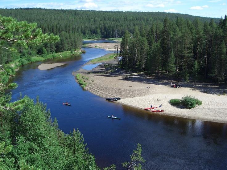 Canoeing The Oulanka River, Kuusamo, Finland