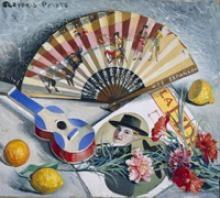 Naturaleza muerta con abanico (1922-1928) , de Gregorio ...