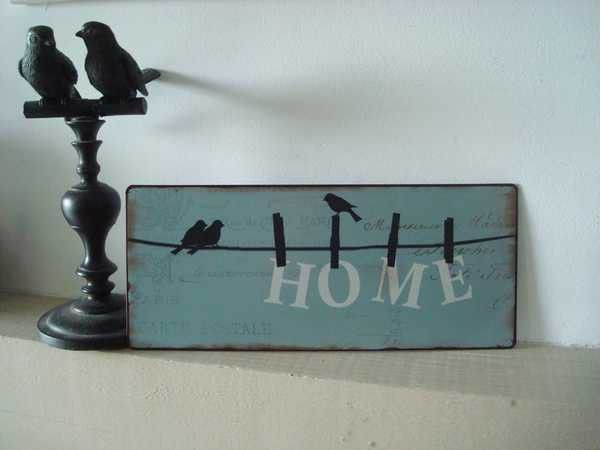nouveaut d co plaque m tal d corative aux oiseaux sur. Black Bedroom Furniture Sets. Home Design Ideas