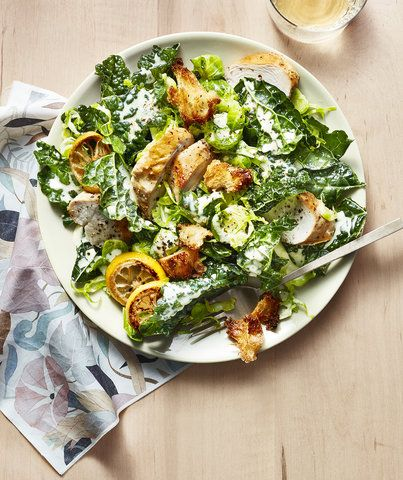 Shaved Brussels Sprouts and Kale Salad With Creamy Tahini Dressing   Get the recipe for Shaved Brussels Sprouts and Kale Salad With Creamy Tahini Dressing.