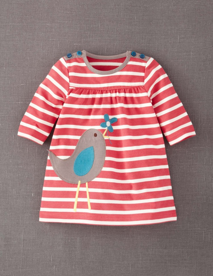 Appliqué Jersey Dress - if only one of my friends would have a girl baby