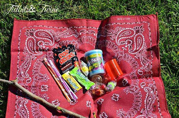 Tidbits Twine Goodie Sack Backyard Campout Birthday Party