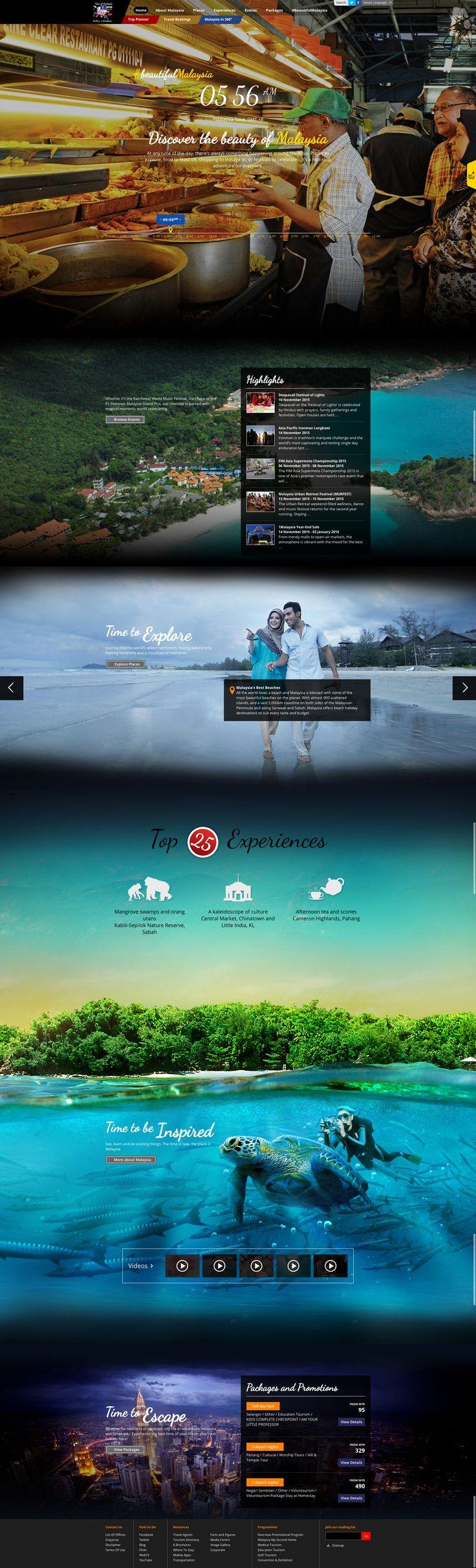Travel Malaysia destination tourism travel website #destination #travel #tourism #webdesign