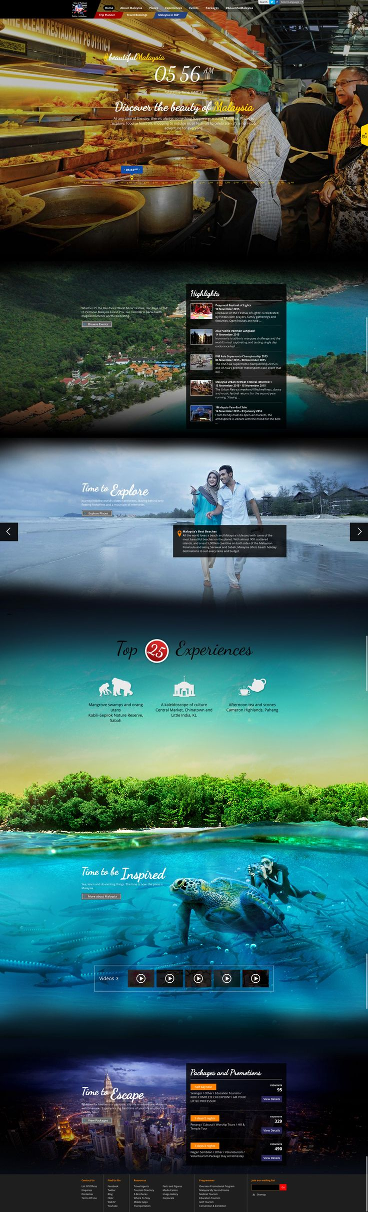 Travel Malaysia destination tourism travel website #destination #travel #tourism #webdesign