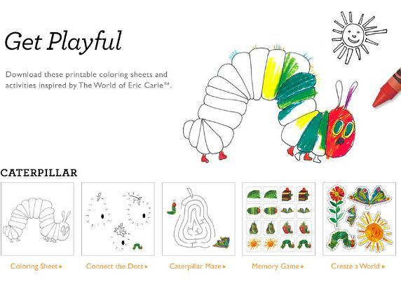 Perfect The Very Hungry Caterpillar Coloring Book 60 Find FREE printable coloring