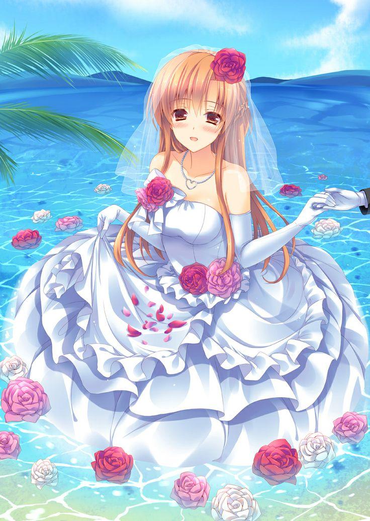 asu a wedding dress ;) Anime và Cô dâu