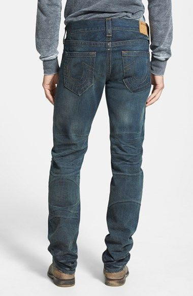 True Religion Brand Jeans 'Geno' Relaxed Slim Fit Jeans (Rough Road) available at #Nordstrom