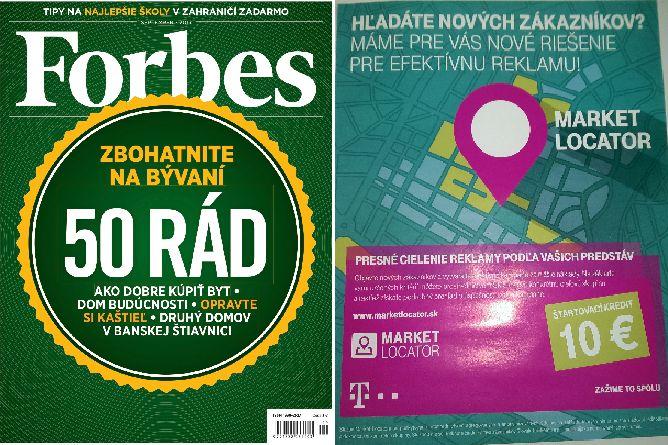 """""""Hladate novych zakaznikov?"""" v aktualnom @ForbesSlovensko ich viete okamzite viac ako milion oslovit reklamnou spravou cez #marketlocator.sk od @AdastraPartnering a @Telekom SK"""