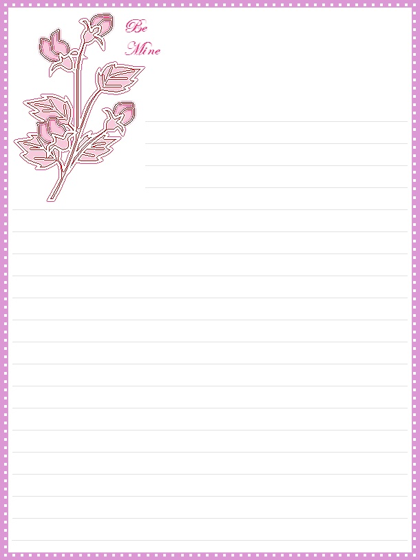 It is a picture of Punchy Nice Letter Paper