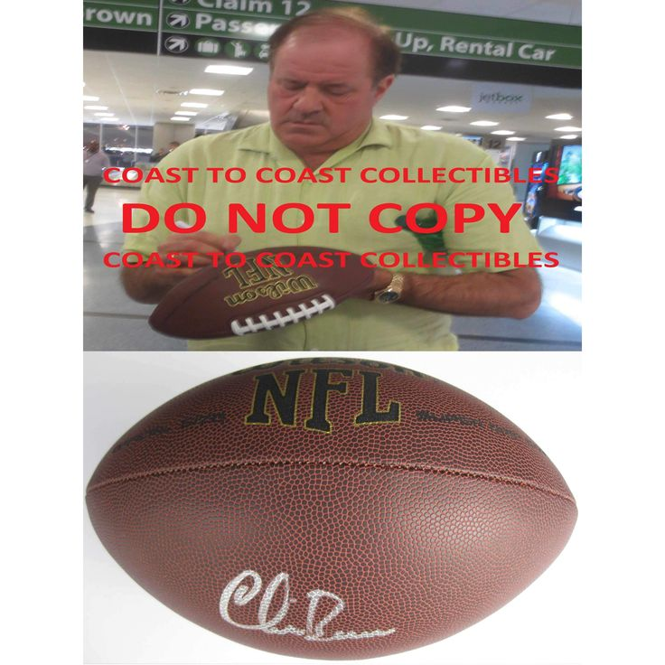 Chris Berman, ESPN, Sportscenter, Monday Night Countdown, Sunday NFL Countdown, Signed, Autographed, Football, a COA and Proof Photo of Chris Signing Will Be Included