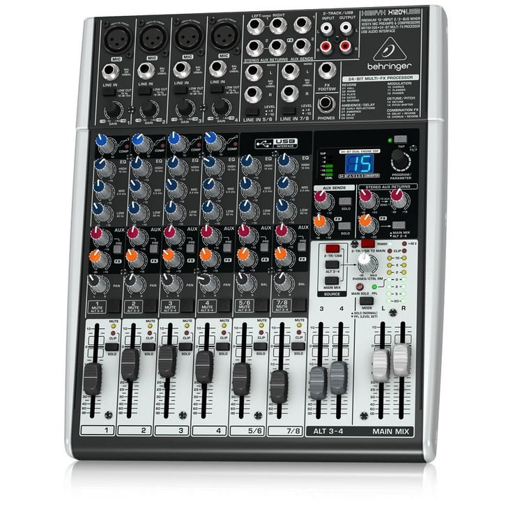Amazon.com: Behringer Xenyx 1204USB Premium 12-Input 2/2-Bus Mixer: Musical Instruments