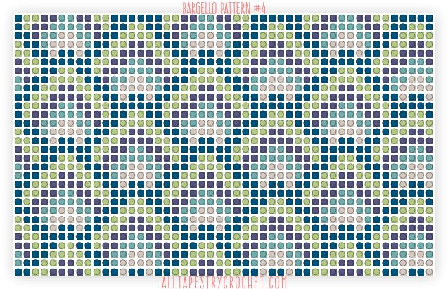 Bargello Pattern #4 - Free Tapestry Crochet Pattern from AllTapestryCrochet.com