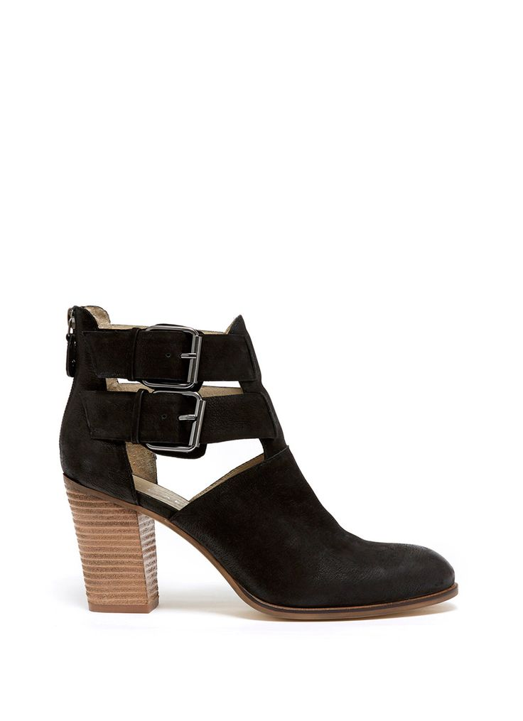 Black Nonie Cut Out Ankle Boot | Boots | MintVelvet #MintVelvet #SS15 #MVSS15