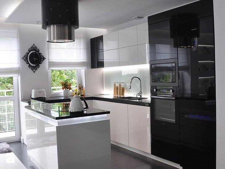 Mieszkanie Białołęka, Warszawa - Średnia otwarta kuchnia w kształcie litery g w aneksie z wyspą, styl nowoczesny - zdjęcie od CUBE Interior Design