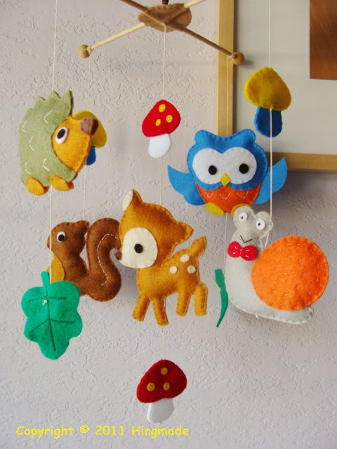 another woodland felt mobile