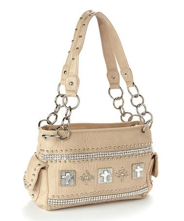 Look what I found on #zulily! Cream & Sparkle Studded Cross Shoulder Bag #zulilyfinds